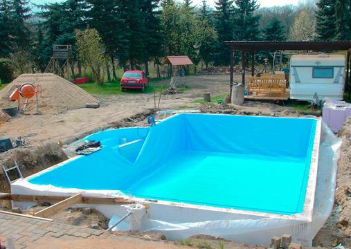 Styropor pool mit treppe ce26 hitoiro for Pool graue folie